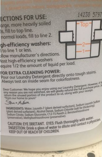 Citra-Solv Cleaners Citra Suds Laundry Detergent Review